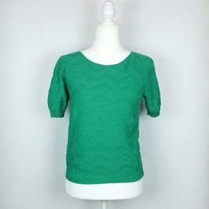 90s Style Cotton Knit Sweater Top green xs Small